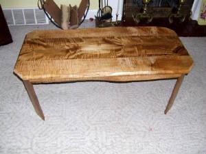 Curly Maple Barnwood Coffee Table